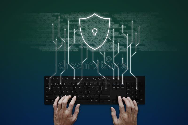 Internet, online-nätverk, social nätverkande och online-säkerhetssystem royaltyfria foton