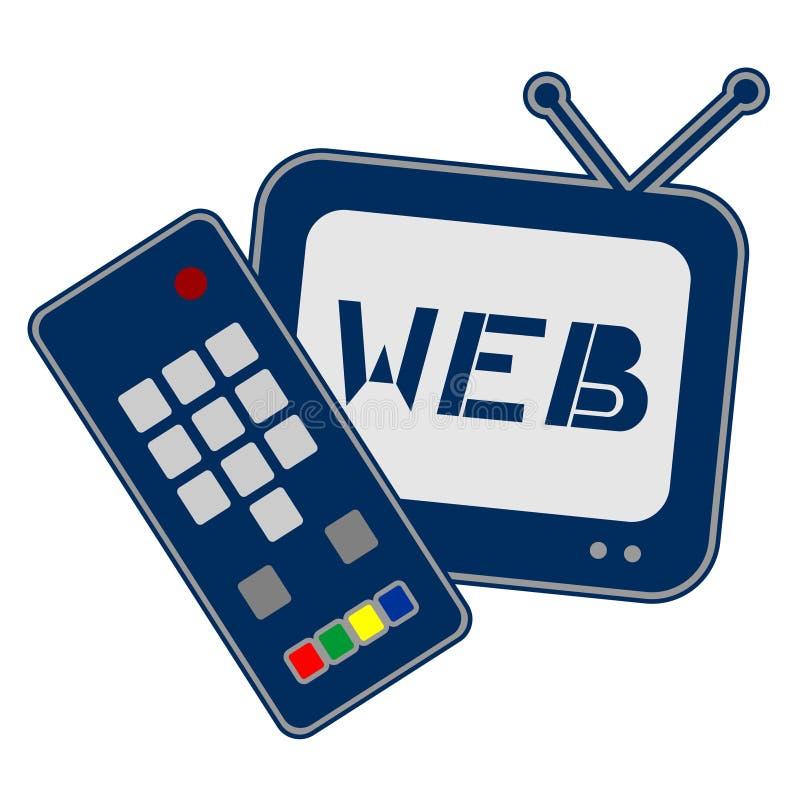 Internet op TV royalty-vrije illustratie