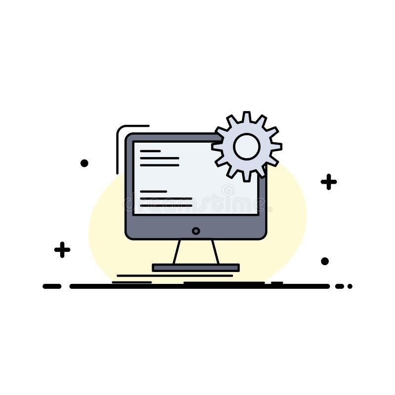 Internet orientering, sida, plats, statisk plan färgsymbolsvektor royaltyfri illustrationer