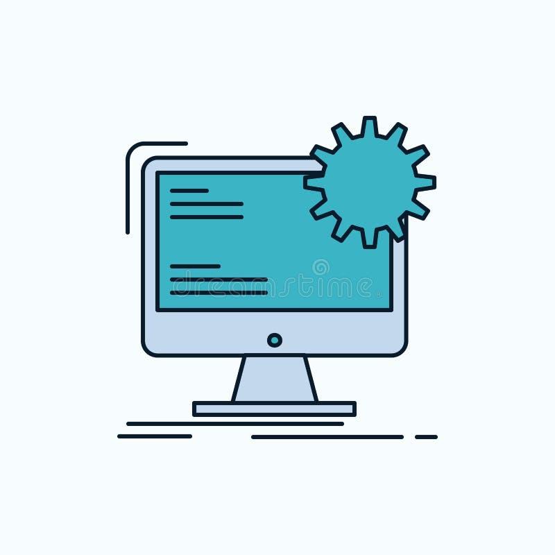 Internet orientering, sida, plats, statisk plan symbol gr?nt och gult tecken och symboler f?r website och mobil appliation vektor vektor illustrationer