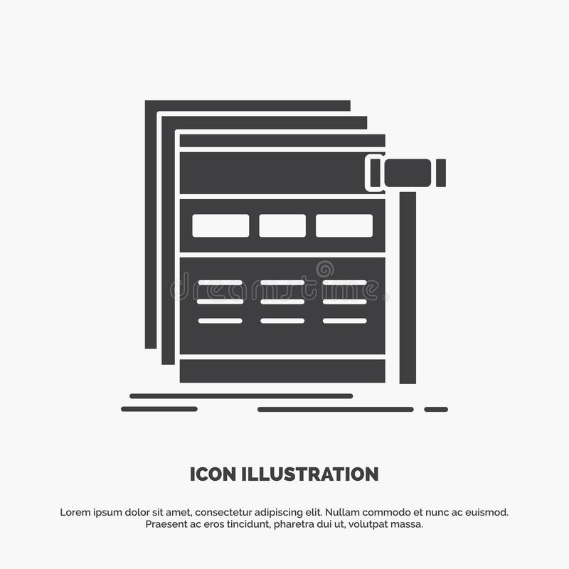 Internet, page, web, webpage, wireframe Icon. glyph vector gray symbol for UI and UX, website or mobile application. Vector EPS10 Abstract Template background stock illustration