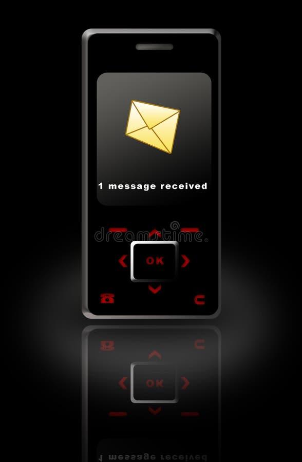 Internet Phone Message royalty free illustration