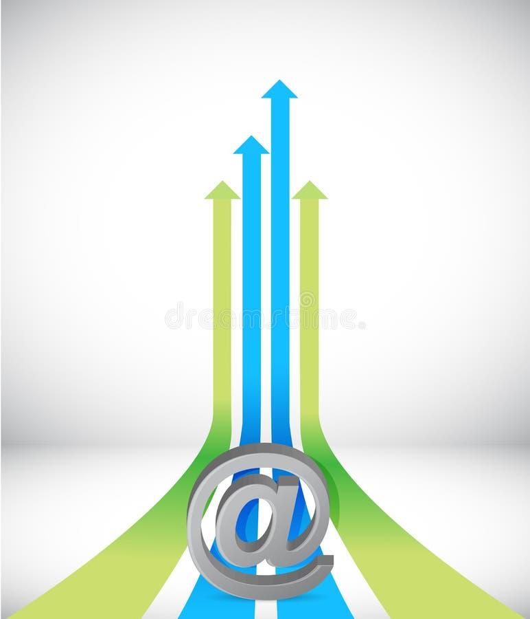 Download Internet-Pijl Die Naar Zelfde Richting Toenemen Stock Illustratie - Illustratie bestaande uit growing, verhoging: 29509495