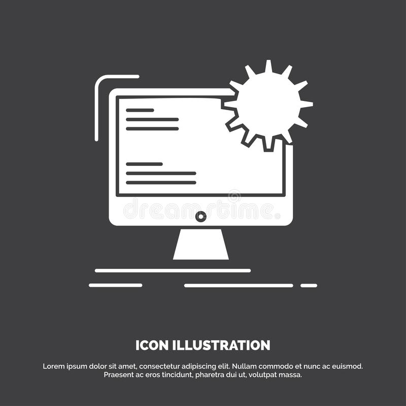 Internet, Plan, Seite, Standort, statische Ikone Glyphvektorsymbol f?r UI und UX, Website oder bewegliche Anwendung stock abbildung