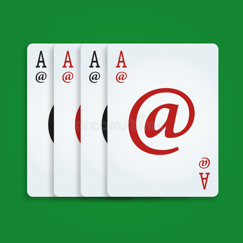 Internet Poker. Playing Cards vector illustration