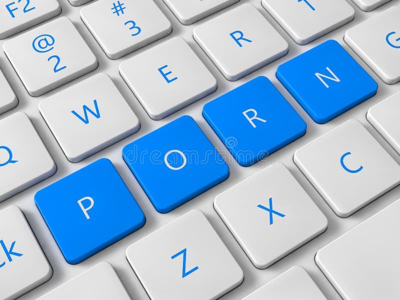 Internet-Pornografie stock abbildung. Illustration von