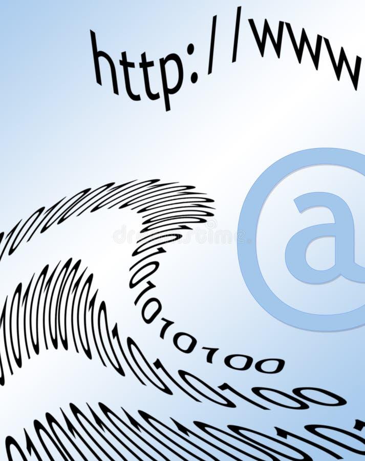 Internet-Post lizenzfreie abbildung