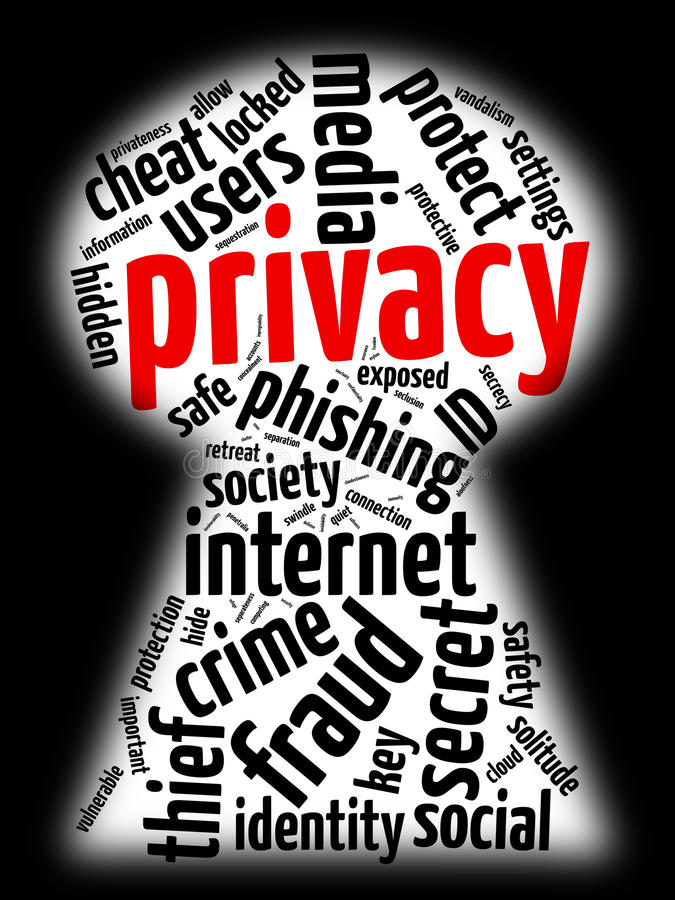 Internet privacy royalty free illustration