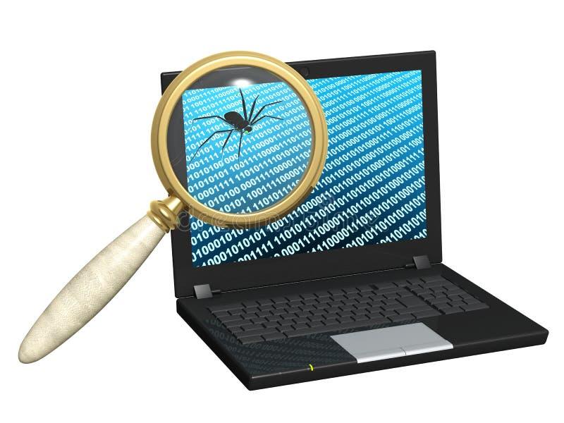 Internet-Programmfehler lizenzfreie abbildung