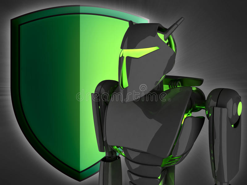 The Internet protection vector illustration