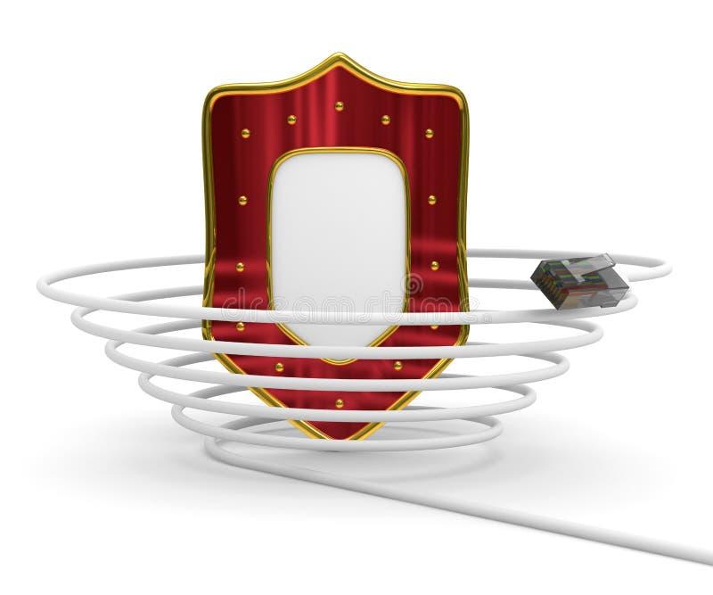 Internet protegido da rede global ilustração royalty free