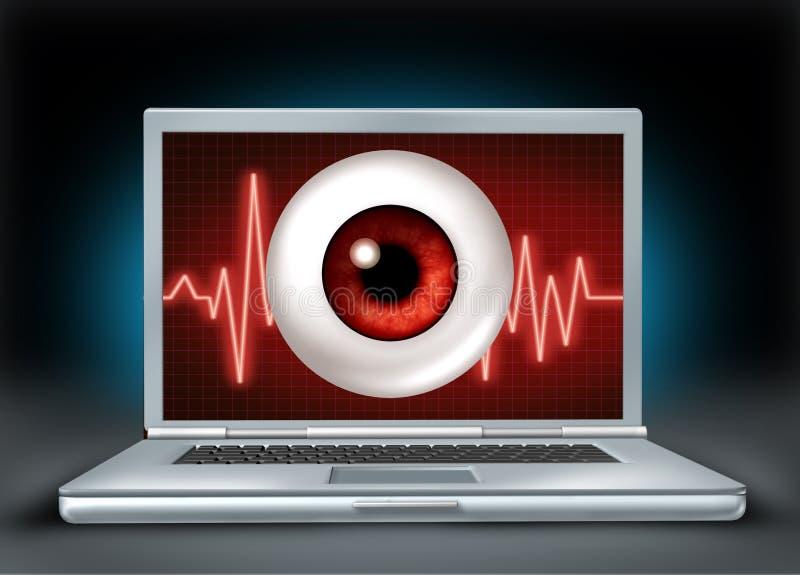 internet prywatność royalty ilustracja