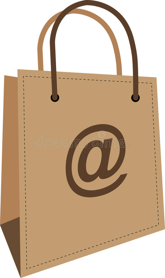 Internet Purchase Bag Royalty Free Stock Image - Image: 20428956