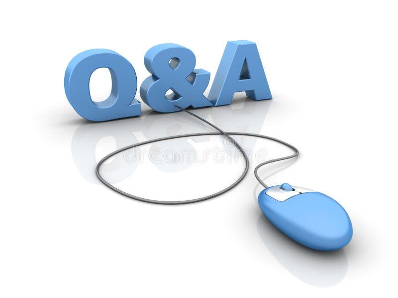 Internet Q&A lizenzfreie abbildung