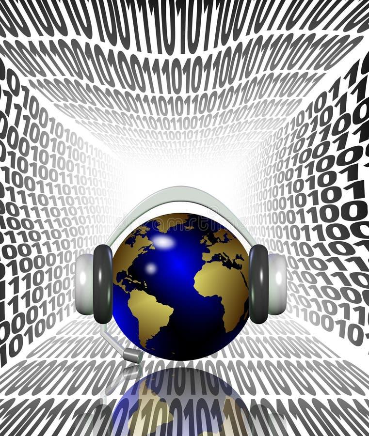 Internet que escuta ilustração do vetor