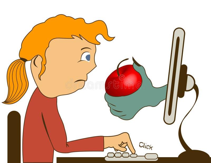 Internet risks royalty free illustration
