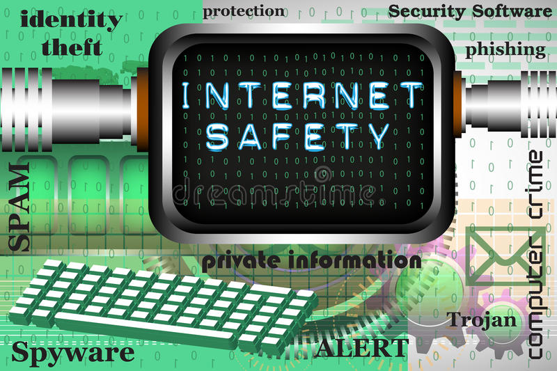 Internet safety royalty free stock images