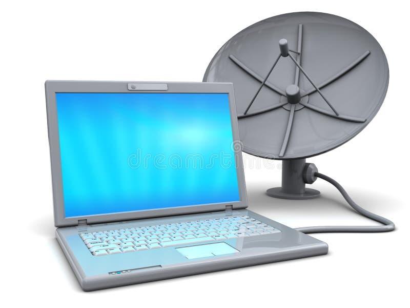 Internet satélite ilustração do vetor
