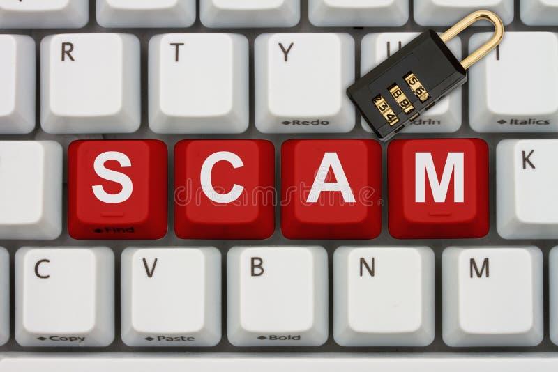 Internet Scam stock photo