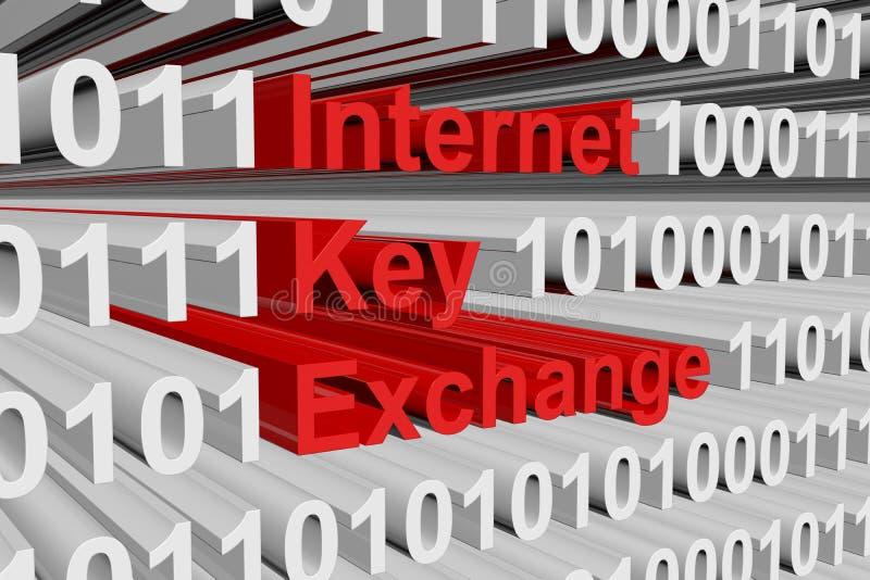 Internet-Schlüssel-Austausch vektor abbildung