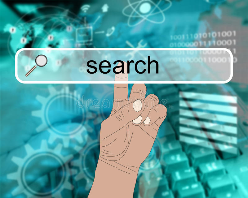 Download Internet search stock illustration. Image of push, click - 33205081