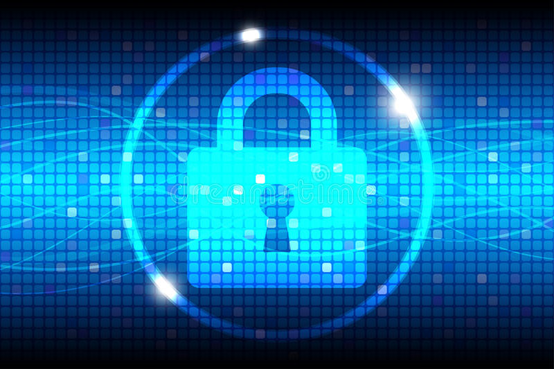 Internet Security Blue Abstract Background royalty free illustration