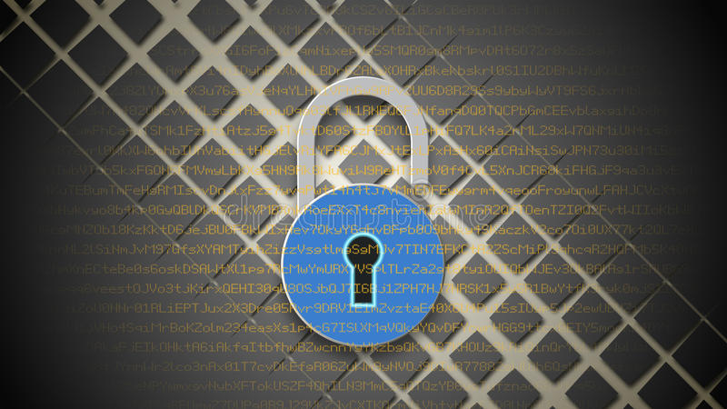 Internet security concept, open red padlock on digital data background. Internet security concept. Open blue padlock on digital data background. Safety of stock illustration