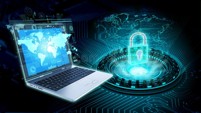 Internet security and information technology concept royalty free illustration