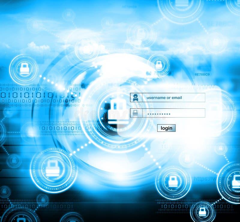 Internet security. Digital illustration of Internet security stock illustration