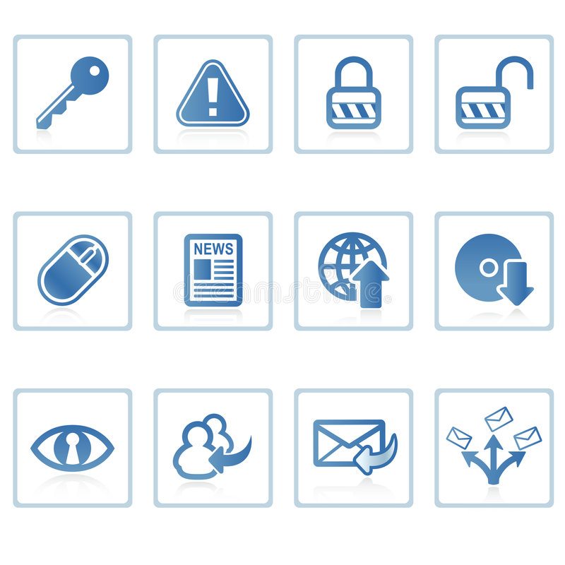 Internet and Security icon I royalty free illustration