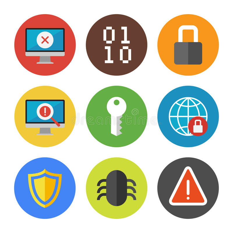 Download Internet Security Icons Set Stock Vector - Illustration: 32844528