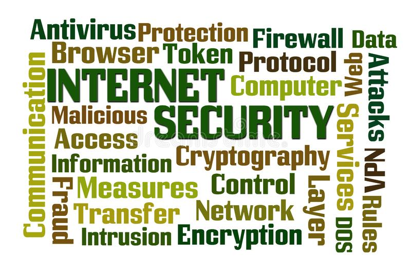 Internet Security Word Cloud vector illustration