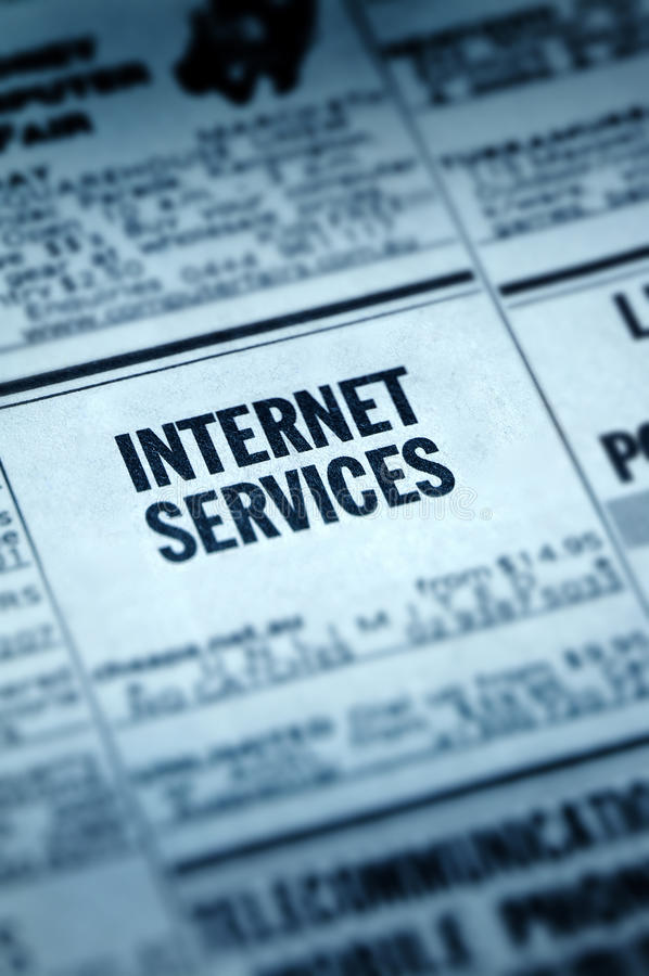 Internet Services Classifieds stock photo