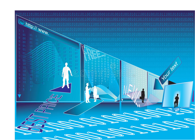 Internet shopping. Abstract vector illustration of internet shopping vector illustration
