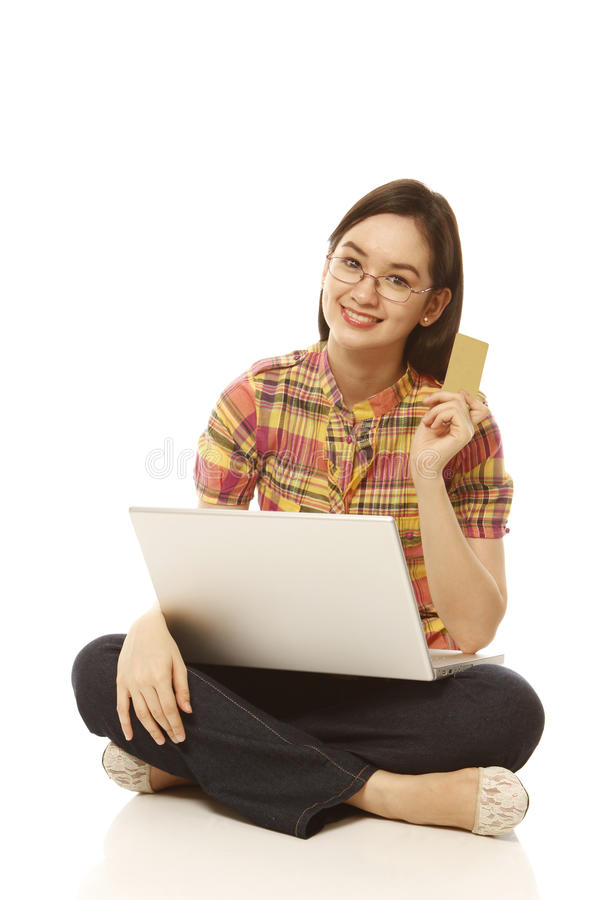 Download Internet Shopping stock photo. Image of female, card - 24742060