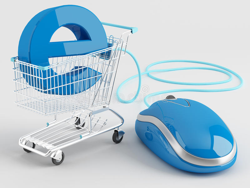Download Internet shopping stock illustration. Image of computer - 25996332