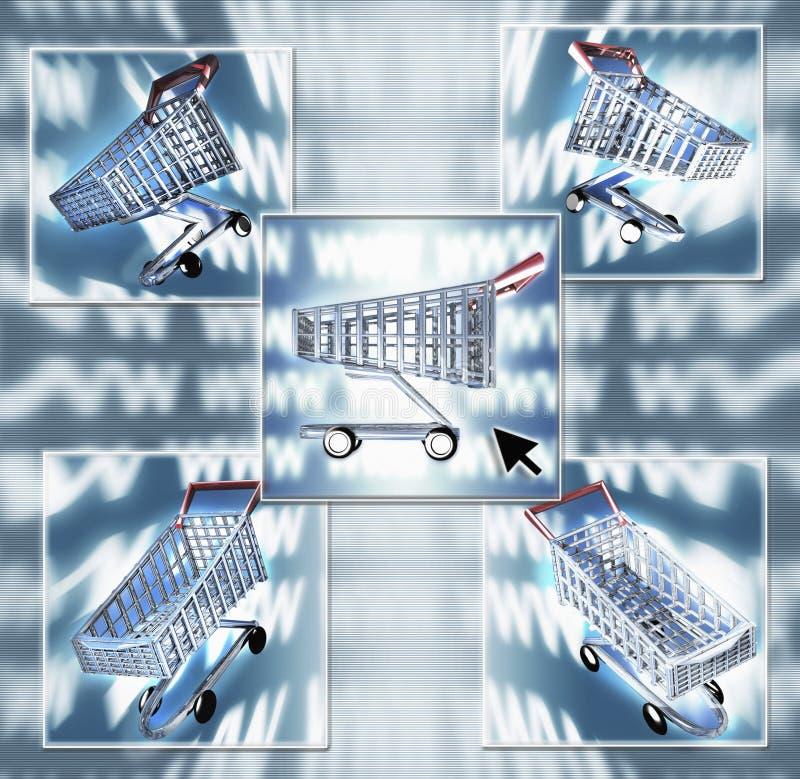 Internet Shopping Composite royalty free stock photos