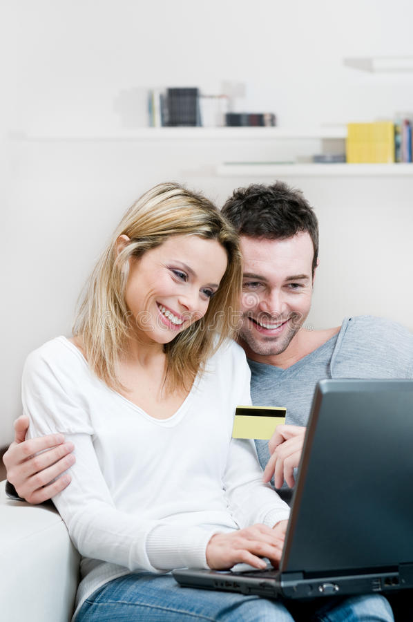 Download Internet Shopping With Credit Card Stock Photo - Image: 12642450