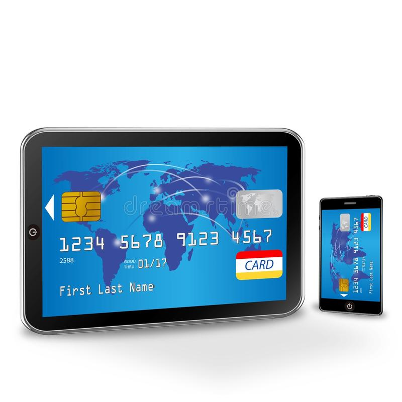 Download Internet Shopping With Credit Card Stock Illustration - Illustration of payment, client: 32375378