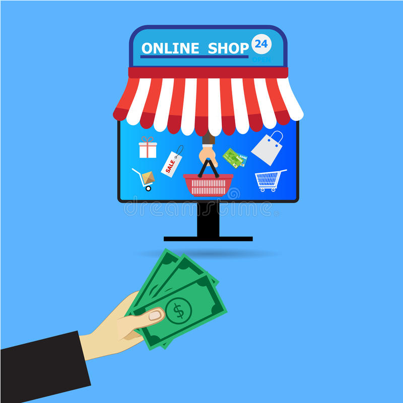 Internet shopping interactive payment royalty free illustration