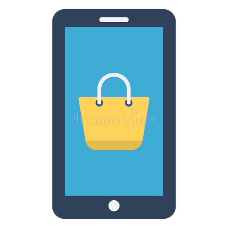 Internet shopping, mobile app Isolated Vector Icon which can be easily edited royalty free illustration