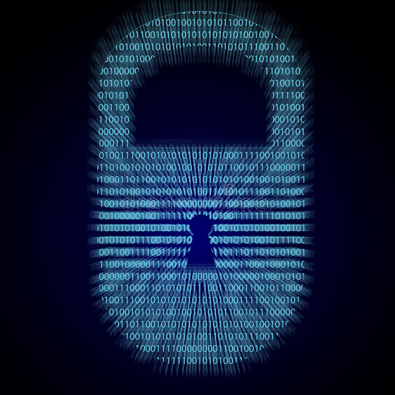Internet-Sicherheit stock abbildung
