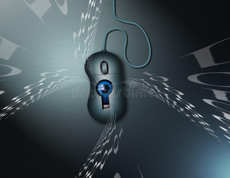 Internet Sicherheit und surveilance lizenzfreie abbildung