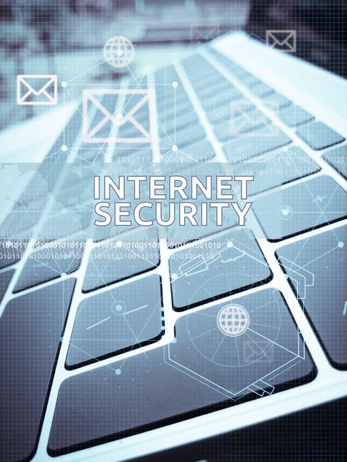 INTERNET-SICHERHEITS-, Digital-Geschäfts- und Technologiekonzept lizenzfreie stockfotos