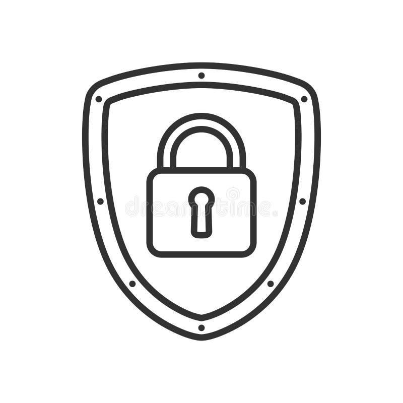 Internet-Sicherheits-Konzept-Entwurfs-flache Ikone stock abbildung