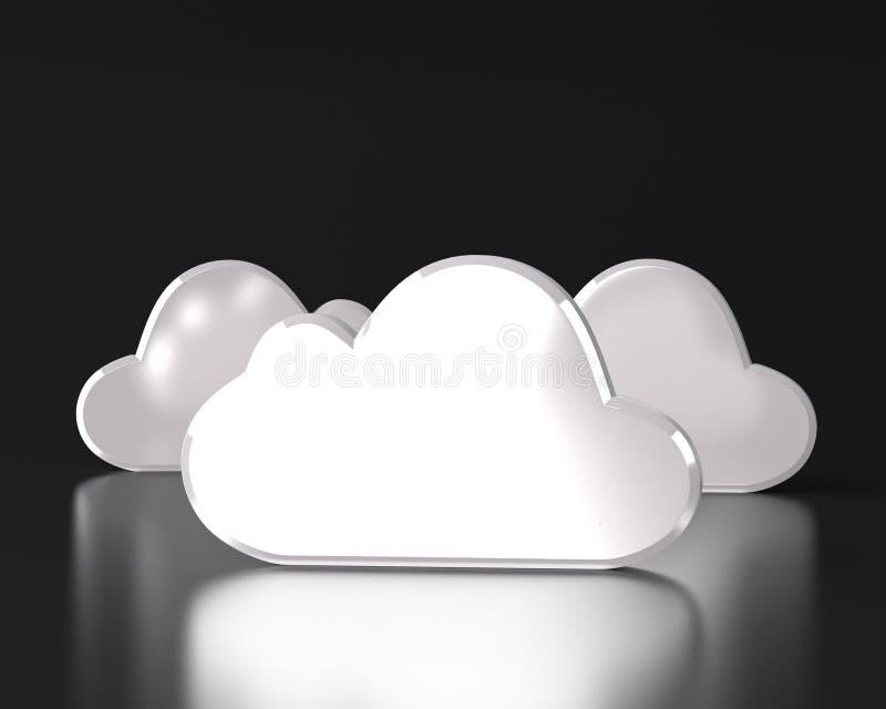 INTERNET-Sicherheitskonzept der Wolke rechnen lizenzfreie abbildung