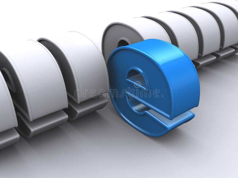 Internet signs. 3d rendered illustration of silver and blue internet signs stock illustration