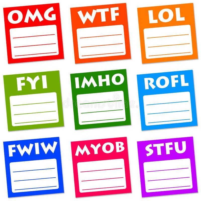Internet slang stock illustration. Illustration of ...