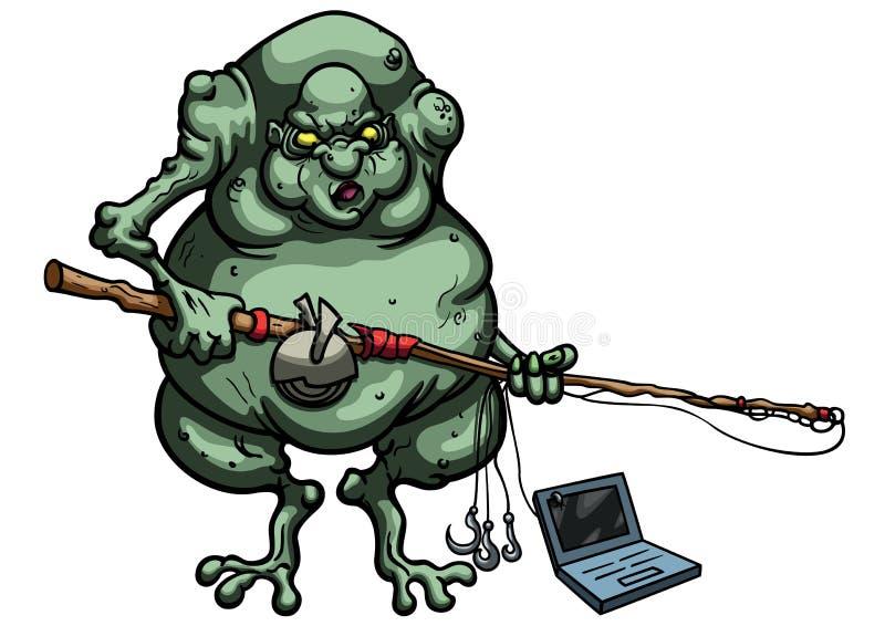 Internet-sleeplijn royalty-vrije illustratie