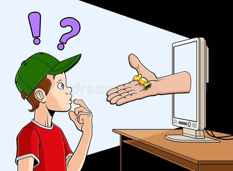 Internet-sluiper royalty-vrije illustratie